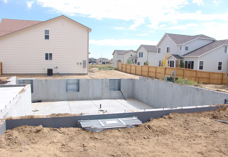 Tml home inspectors inc foundations structure for Basement foundations construction